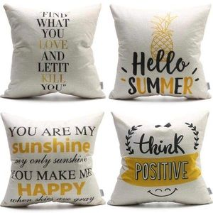 Summer Pillow Covers Pineapple You are My Sunshine